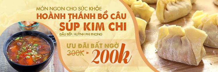 Hoành thánh Bồ câu súp Kim chi - HCM - Cooky.vn