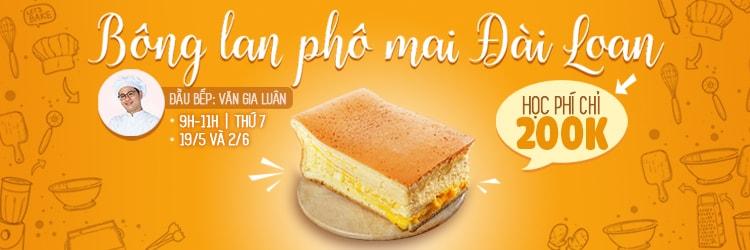 Lớp Bánh Bông Lan Phô Mai Đài Loan - HCM - Cooky.vn